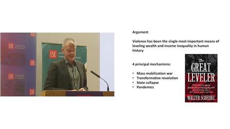 the great leveler violence 0691165025 lse events the great leveler violence and the history of inequality youtube