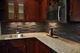 Black Backsplash Kitchen Island Rustic Himachal Black Backsplash Modern