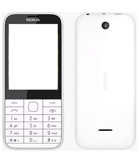 Hp Nokia N 225 nokia 225 original panel 3pcs white plain back