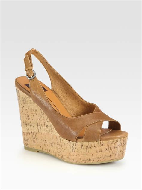dolce vita wedge sandals dolce vita leather slingback wedge sandals in brown