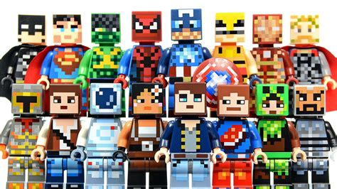 Lego Lele 34012 6 Power Mini Figure new lego minecraft skin pack 1 2 plus dc marvel