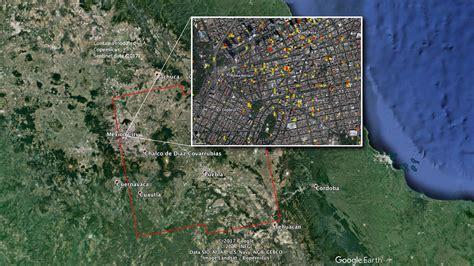 imagenes satelitales mejores que google earth nasa elabora mapa que identifica da 241 os por el temblor