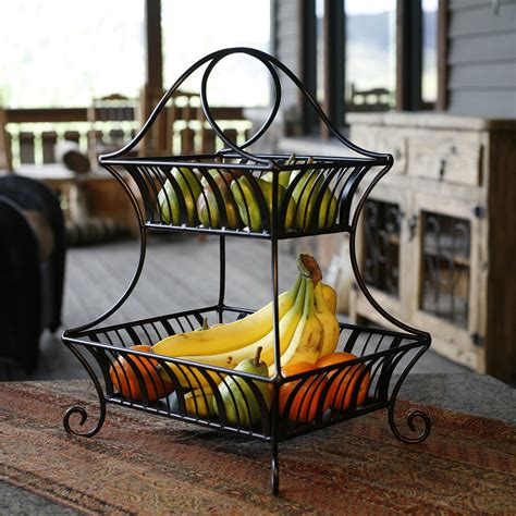 The Kitchen Collection Store Locator by Mesa International Delaware Collection 2 Tier Fruit Basket