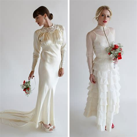 Retro Wedding Dresses by Beautiful Vintage Wedding Dresses From Beloved Vintage