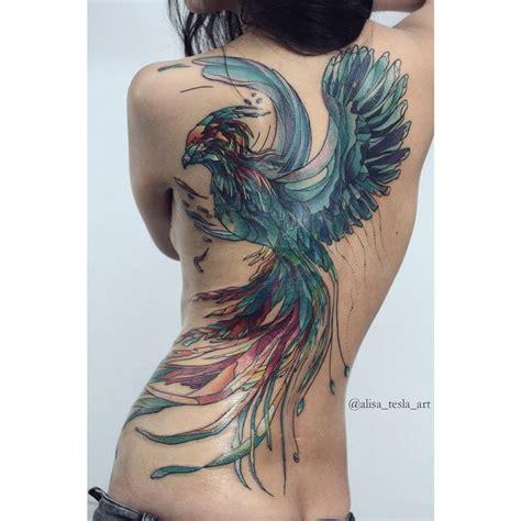 tattoo phoenix on back parrot hip bum tattoo best tattoo design ideas