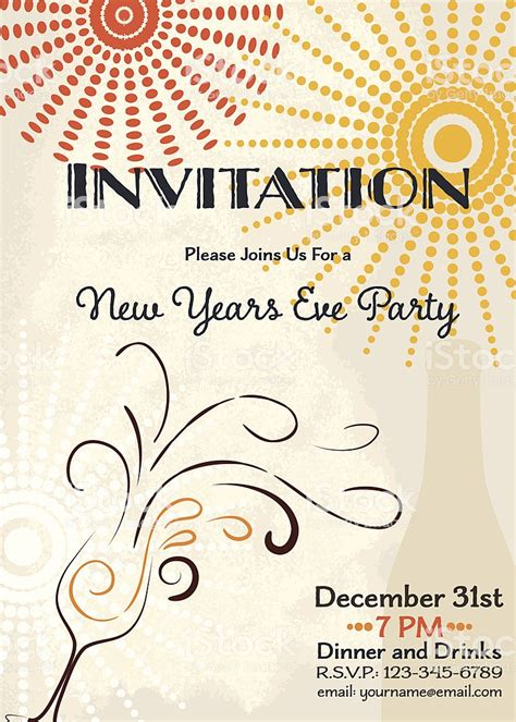 New Years Eve Party Invitation Template Orderecigsjuice Info New Year Invitation Template