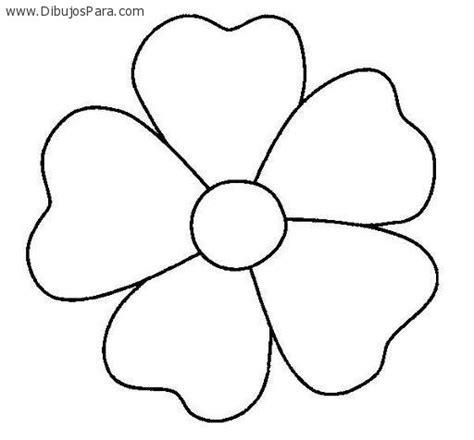 flores de 5 petalos para imprimir dibujo de flor de cinco petalos dibujos de flores para