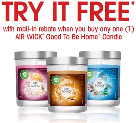 candele air wick air wick freebies purchase any one air wick to be