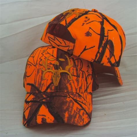 blaze orange camo hat realtree ap blaze orange camouflagehunting fishing outdoor