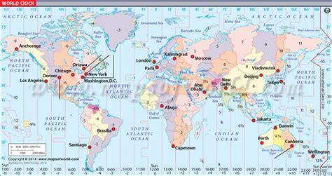 world cities time zone map world clock map world time and date map