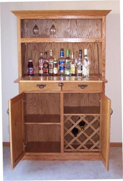 crafted oak liquor cabinet by s custom woodwork