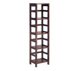 Target Ladder Bookcase Wood Narrow Shelving Unit From Winsome Modern Home Decor