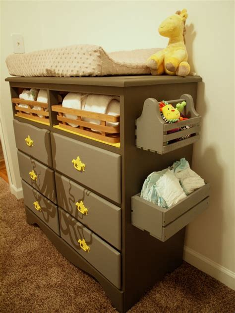Changing Table Storage Changing Table Dresser With Side Storage Future Hicks Pinterest