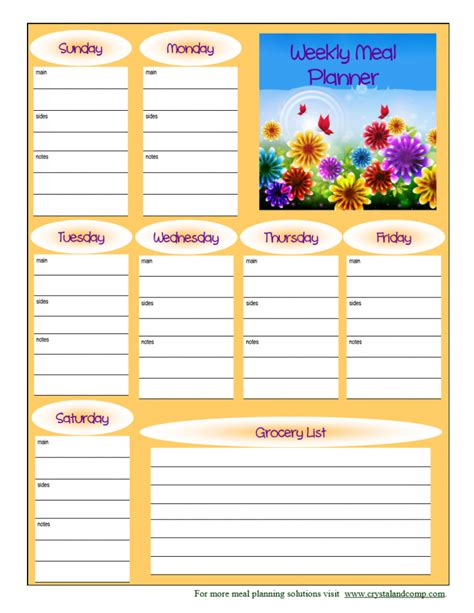 free printable diet planner search results for childrens weekly menu planner