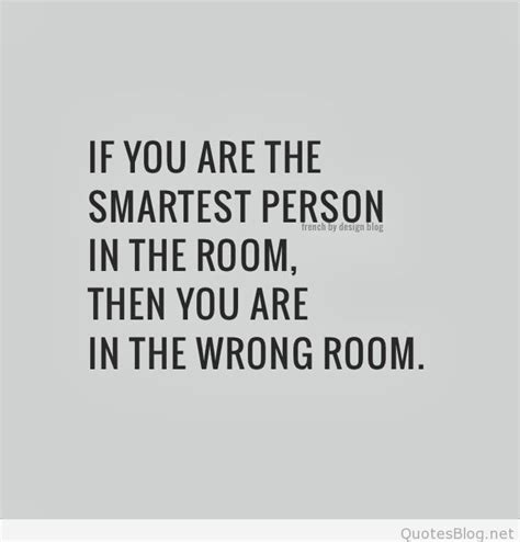 the smartest in the room smartest person image quotation