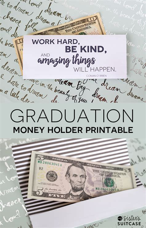 graduation money card template graduation money holder printable my s suitcase