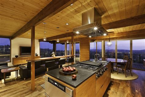 Modern Split Level Homes by Kitchen Island Dining Living Space Mid Century Modern