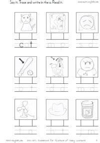 Phonics worksheets on short vowels cvc worksheets short a short e