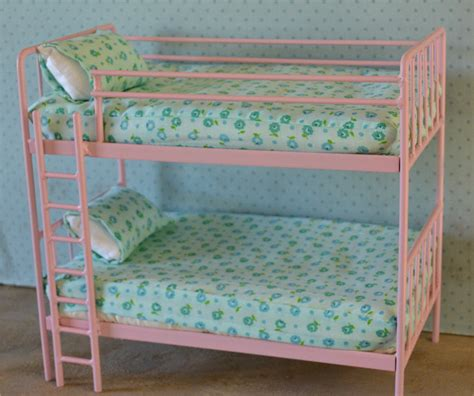 barbie doll beds doll bunk bed miniature metal bed playscale barbie blythe