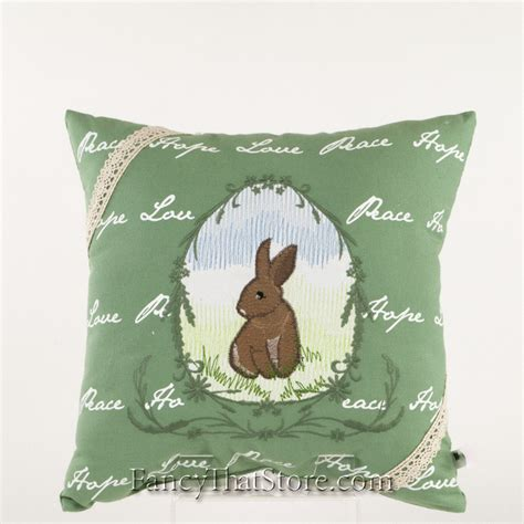 embroidered bunny pillow assortment fancy that store