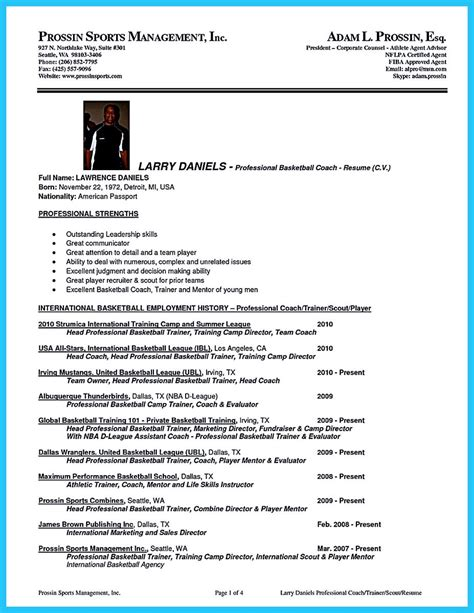 basketball coach resume captivating thing for and acceptable basketball