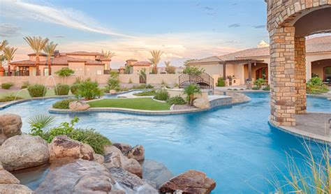 how to build a lazy river in your backyard staycation in your own backyard resort style designs phoenix landscaping design