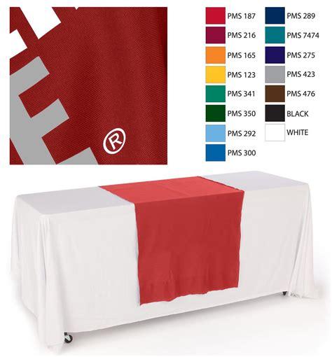 custom table runner with logo cloth table runners custom logo drapes