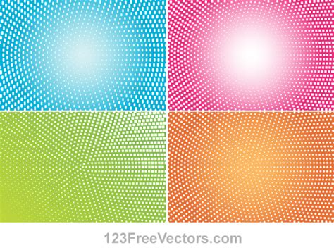 dot pattern deviantart abstract colorful halftone illustrator vector back by