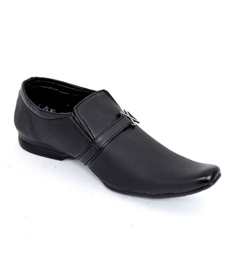 the designer fashion black formal shoes price in india