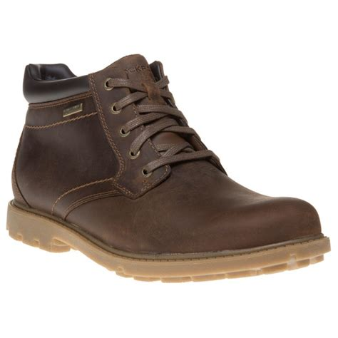 rugged leather boots new mens rockport brown rugged buck leather boots lace up ebay