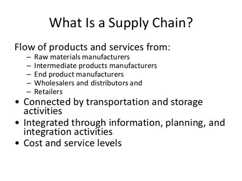 Supply Chain Management Notes For Mba by Mba Ii Pmom Unit 4 4 Supply Chain Management A