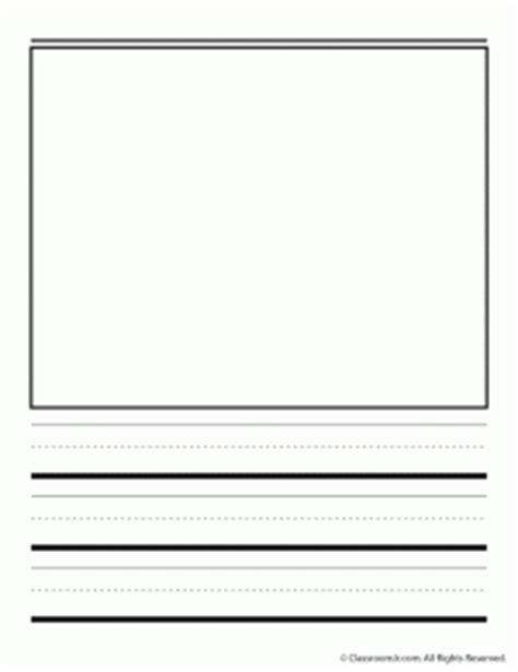 writing paper with picture box handwriting paper