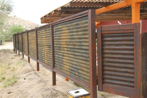 Long Lasting Corrugated Metal Privacy Fence ? Fence Ideas