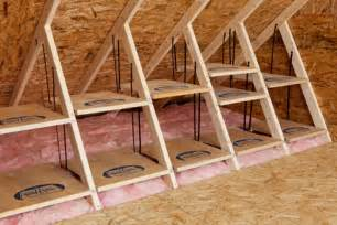 Attic Ideas clever attic storage ideas the owner builder network