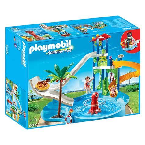6669 Parc Aquatique avec toboggans géants   Playmobil