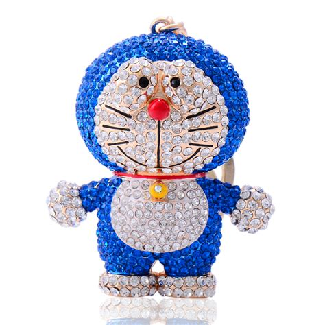 Keychain Doraemon doraemon keychain key chain key ring s rhinestone inkey chains from jewelry on