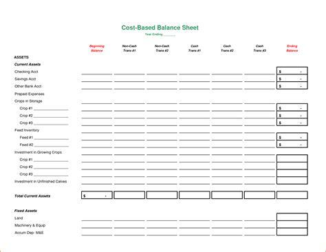 8 blank balance sheet bookletemplate org