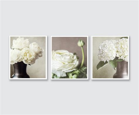 cottage wall decor shabby chic wall decor cottage decor flower prints or