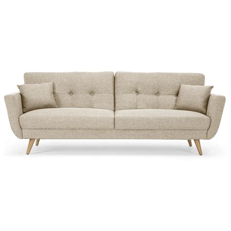 Isabella Fabric 3 Seater Sofa Bed Natural Gay Times Uk 3 Seater Sofa Bed