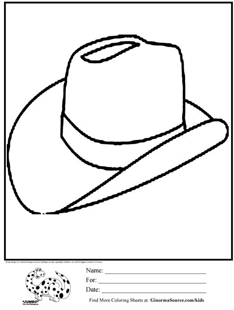 coloring page of a hat cowboy hat coloring page az coloring pages