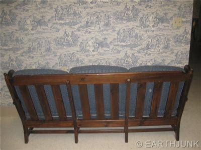 ethan allen wood frame sofa ethan allen antiqued old tavern pine wood framed