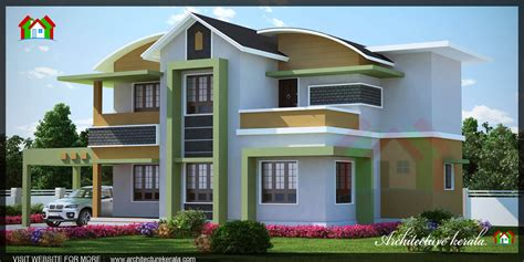 1500 square kerala house 3d elevation architecture