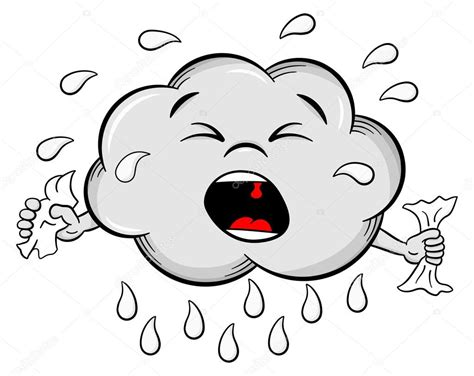 imagenes llorando comicas nube de lluvia de dibujos animados llorando archivo