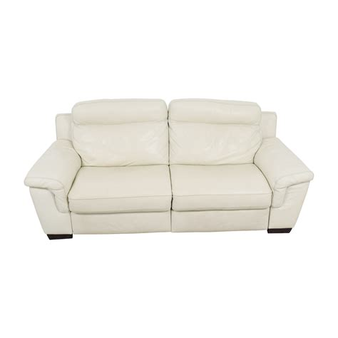macy s white leather sofa baci living room