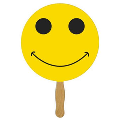 smiley face stock shaped paper fans customized with your