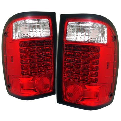 2000 ford ranger tail lights 1993 2000 ford ranger euro style led tail lights red
