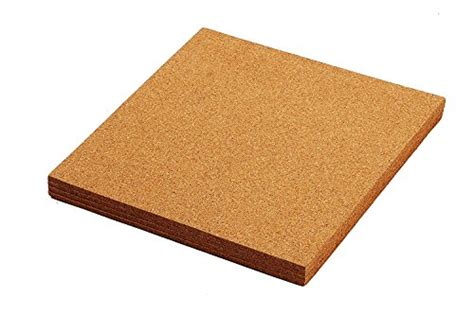 cork tile boards frameless mini wall bulletin boards natural 4 pack 12 x 12 inches