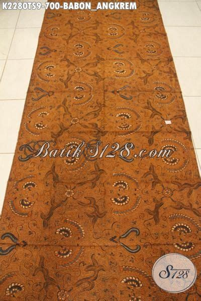 Batik Tulis Motif Babon Angkrem jual kain batik klasik motif babon angkrem kwalitas