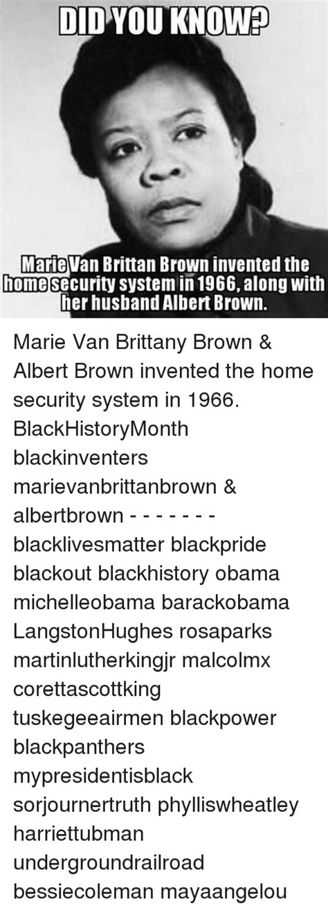 marie van brittan brown albert marie van brittan brown