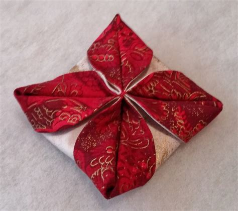 folded fabric ornaments folded fabric ornaments to sew tutorial part 2 beth